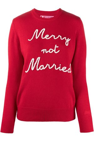 MC2 SAINT BARTH Women Jumpers - Marry Not Married intarsia rib-trimmed jumper