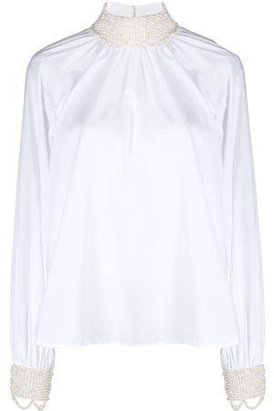 WANDERING Pearl-embellished cotton blouse