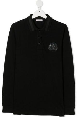 Moncler Fine knit polo shirt