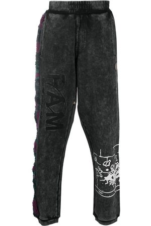 PAM PERKS AND MINI Deep Level faux-fur trackpants