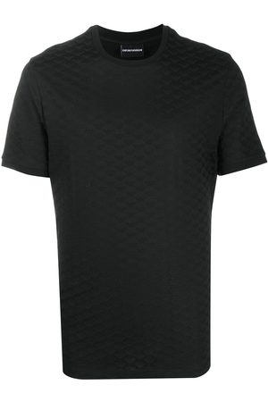 Emporio Armani Men Short Sleeve - Plain textured T-shirt