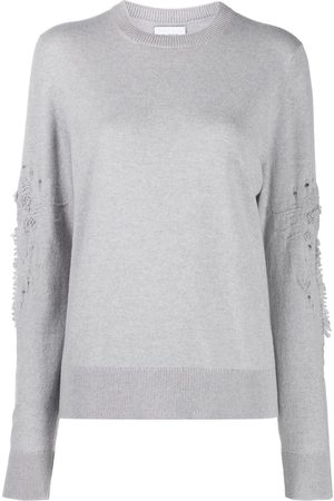 Barrie 3D thistle embroidered jumper