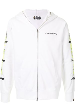 A BATHING APE® Ghost logo full-zip hoodie