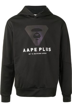 AAPE BY *A BATHING APE® Logo-print side-zip hoodie