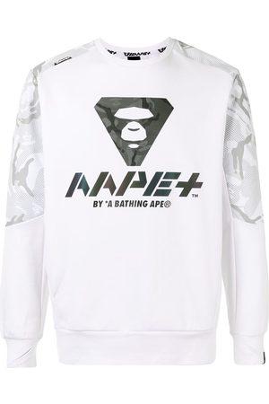 AAPE BY *A BATHING APE® Men Sweatshirts - Camouflage panel logo print sweatshirt
