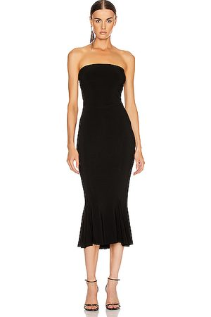 Norma Kamali Strapless Fishtail Dress To Midcalf in