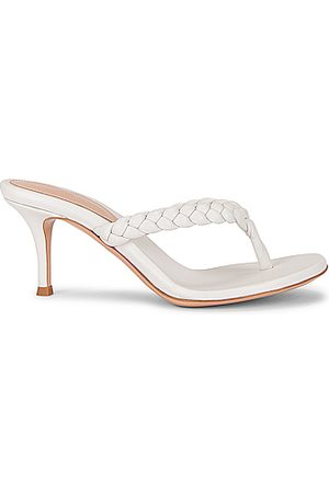 Gianvito Rossi Braid Thong Sandals in