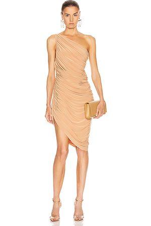 Norma Kamali Diana Mini Dress in Neutral