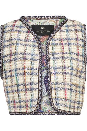 Etro Checked tweed vest