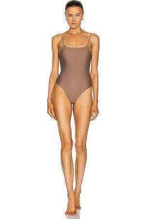 Jade Swim Trophy One Piece Swimsuit in Neutral