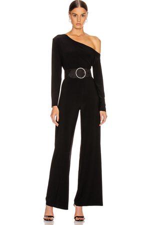 Norma Kamali Women Long Sleeve - Long Sleeve Drop Shoulder Jumpsuit in