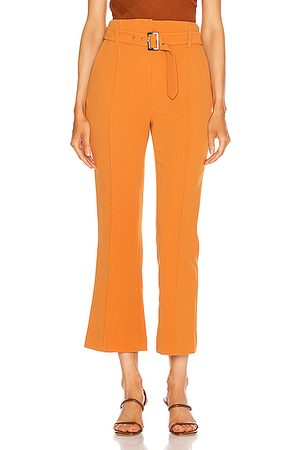JONATHAN SIMKHAI Florence Crepe Belted Pant in