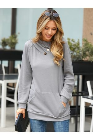 YOINS Hooded Design With Pocket Long Sleeves Knit Top
