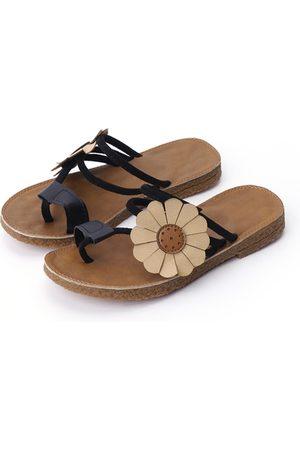 YOINS Boho Style Flower Decoration Slippers