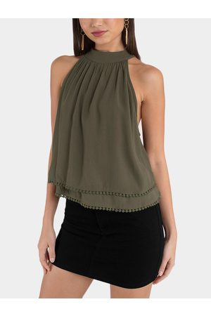 YOINS Army Cut Out Two Layers Design Top