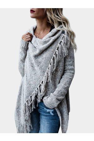 YOINS Tassel Details Long Sleeves Knit Sweater