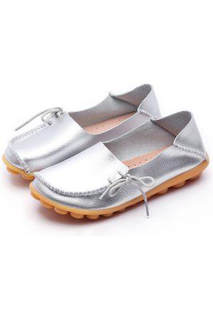 YOINS Fashion Soft Lace-up Loafers Flats
