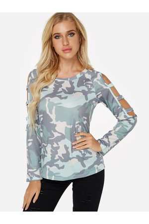YOINS Side Cut Out Cold Shoulder Long Sleeves Top