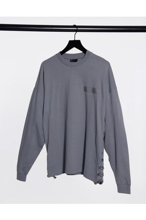 ASOS Long sleeve oversized t-shirt with bungee cord side seam in