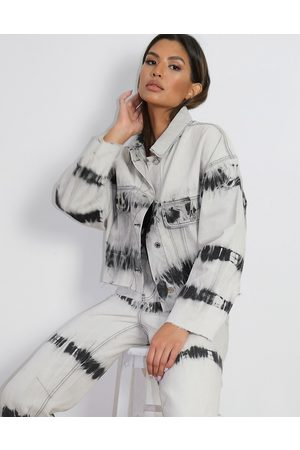 Missguided Women Sets - Co-ord cropped denim jacket in tie dye