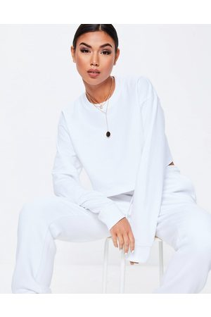 Missguided Basics long sleeve cropped sweat in