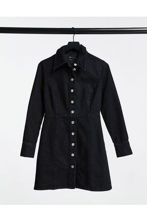 ASOS Denim fitted shirt dress in