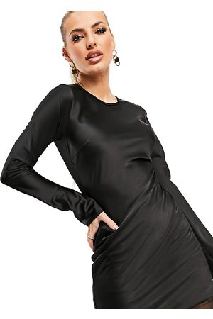 AsYou Satin mini dress with long sleeve