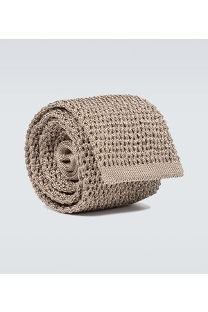 Tom Ford Men Neckties - Silk knitted tie
