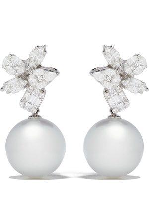 Yoko London 18kt white gold Starlight South Sea pearl and diamond earrings