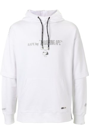 AAPE BY *A BATHING APE® Layered logo print hoodie