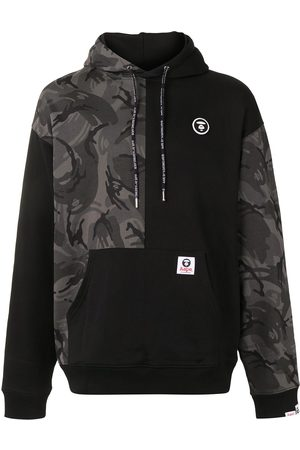AAPE BY *A BATHING APE® Camouflage-print panelled hoodie