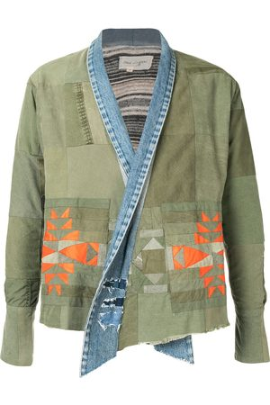 GREG LAUREN Patchwork shawl-lapel jacket