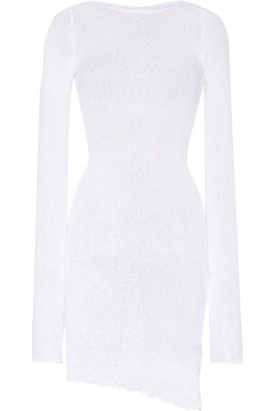 Ambra Maddalena Women Summer Dresses - Semi-sheer cotton mini dress