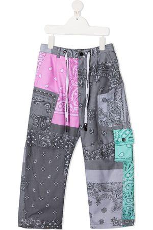DUOltd Bandana-print cargo trousers
