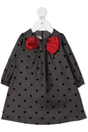 LA STUPENDERIA Bow-embellished mini dress