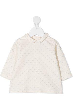 LA STUPENDERIA Textured stitched cotton sweatshirt