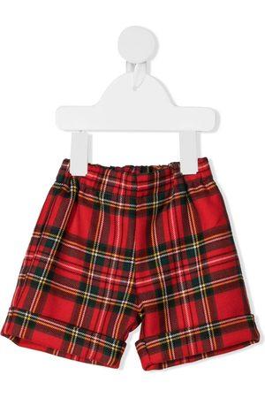 LA STUPENDERIA Tartan-print virgin wool shorts