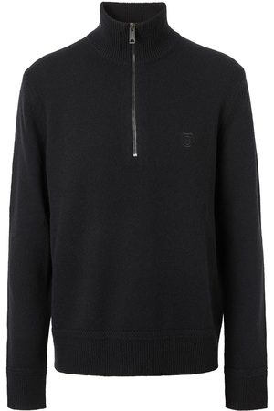 Burberry Embroidered logo funnel-neck jumper