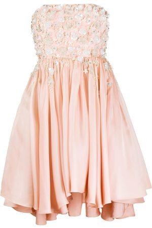 Parlor Embellished strapless dress