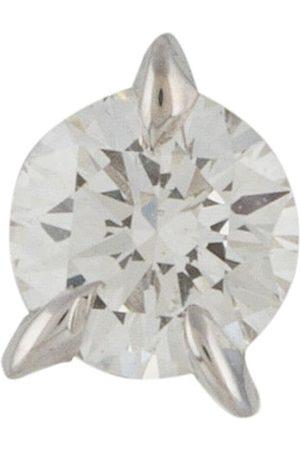 LE STER 18kt white gold diamond Bombette stud single earring