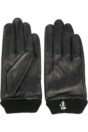 Karl Lagerfeld Ikonik-brooch leather gloves