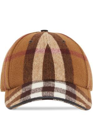 Burberry Men Hats - Check-print baseball cap