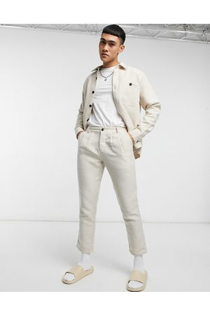 ASOS Co-ord cigarette fit trousers in linen look