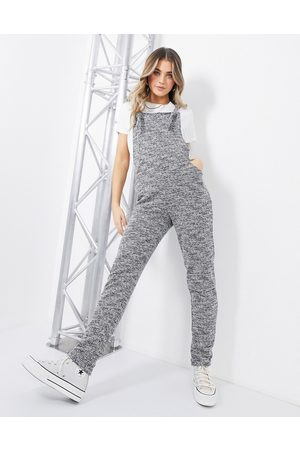 ASOS Jersey casual dungaree in mono boucle