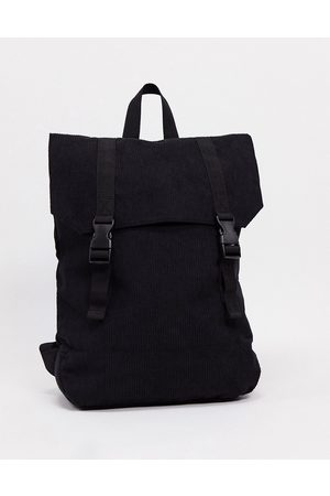 ASOS Backpack in cord with faux leather base