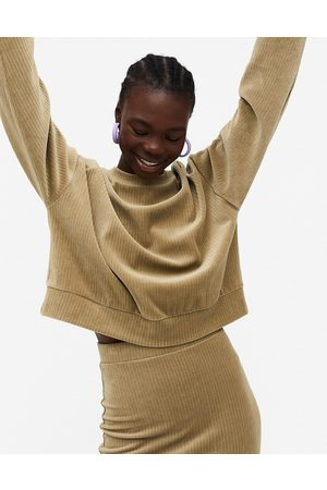 Monki Cory cord sweater in -Neutral