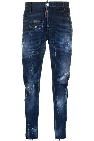 Dsquared2 Distressed ankle-zip skinny jeans