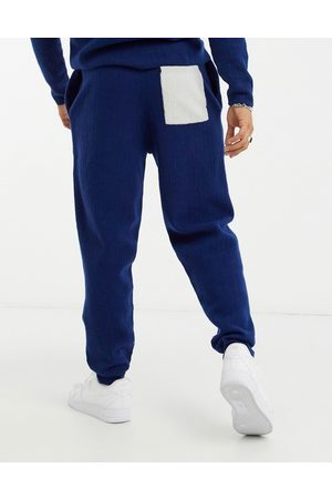 ASOS Knitted co-ord boiled wool joggers in