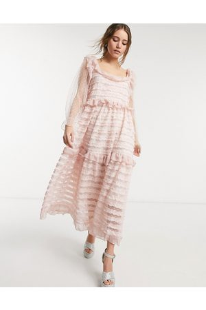 Sister Jane Square neck ruffle tier maxi dress in