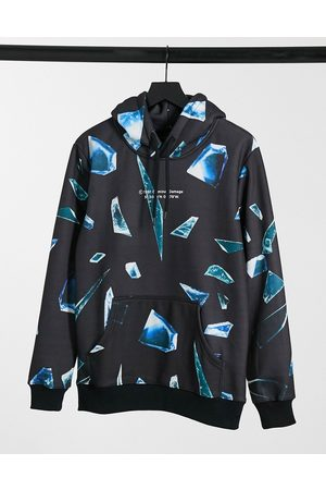 Criminal Damage Hoodie with glass shard print in